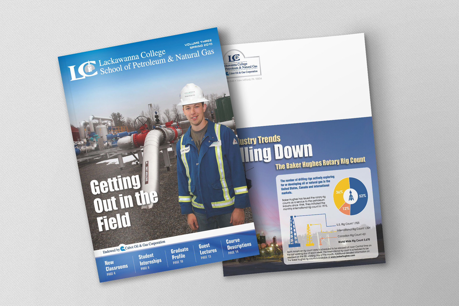 Lackawanna College, Cabot Oil & Gas Corporation – School of Petroleum & Natural Gas Magazine