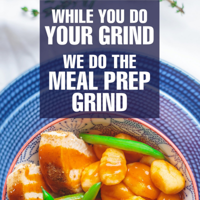 Meal Prep Grind Poster, Web site, Social Media, Radio, Booth Display