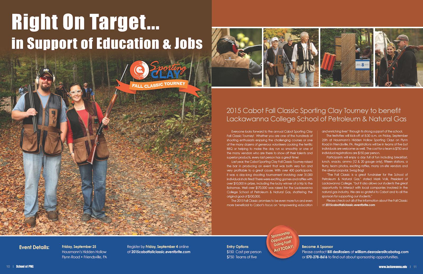 Lackawanna College, Cabot Oil & Gas Corporation – School of Petroleum & Natural Gas Magazine